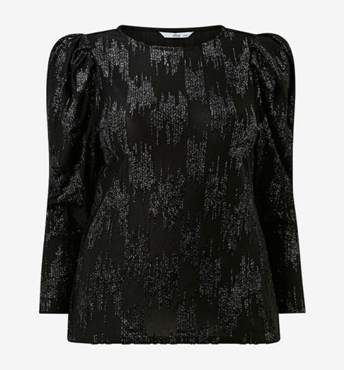 svart glittrig topp från kakan x ellos