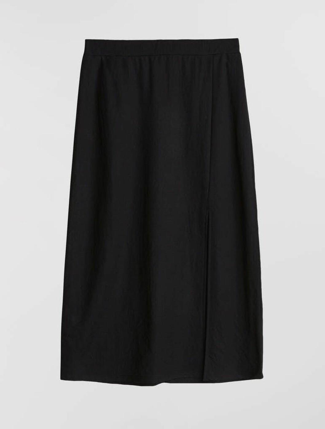 Svart kjol med slits för dam till 2020