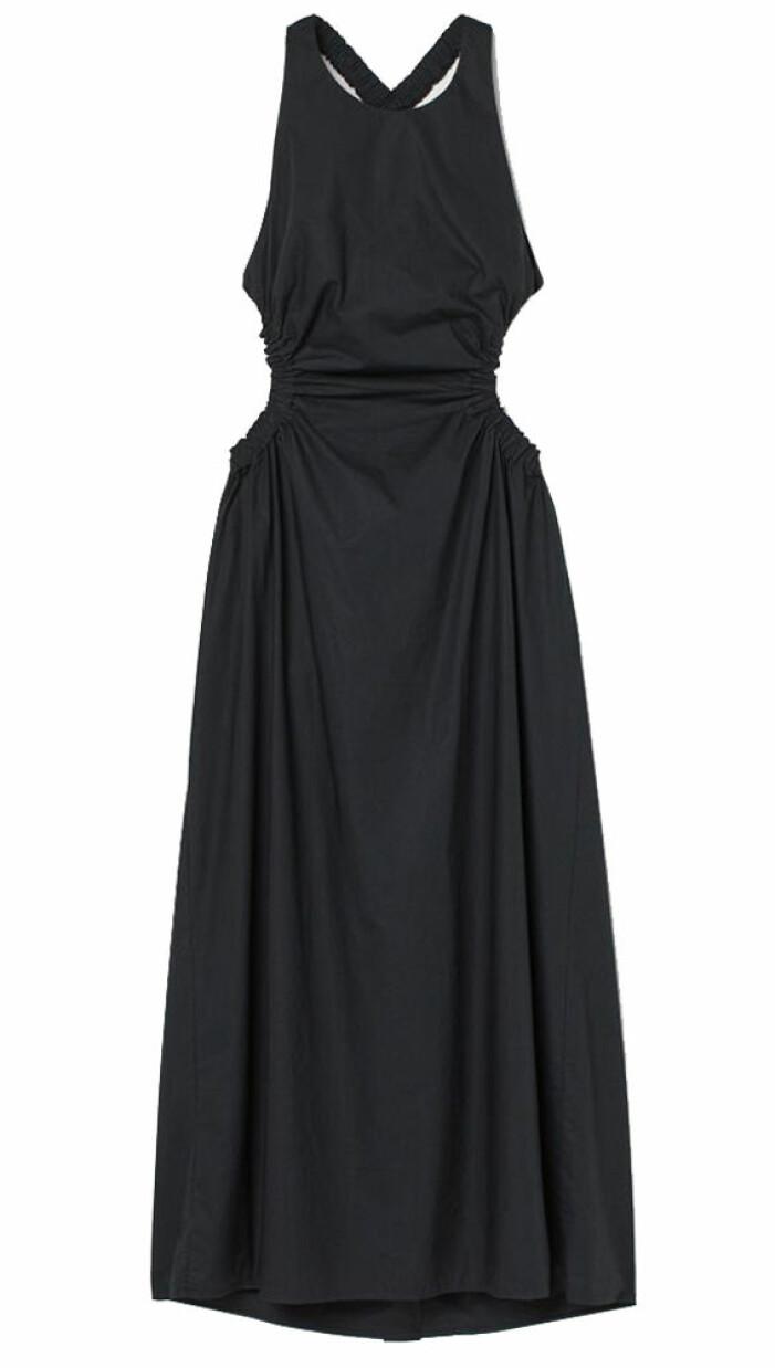 svart klänning med cutouts H&M