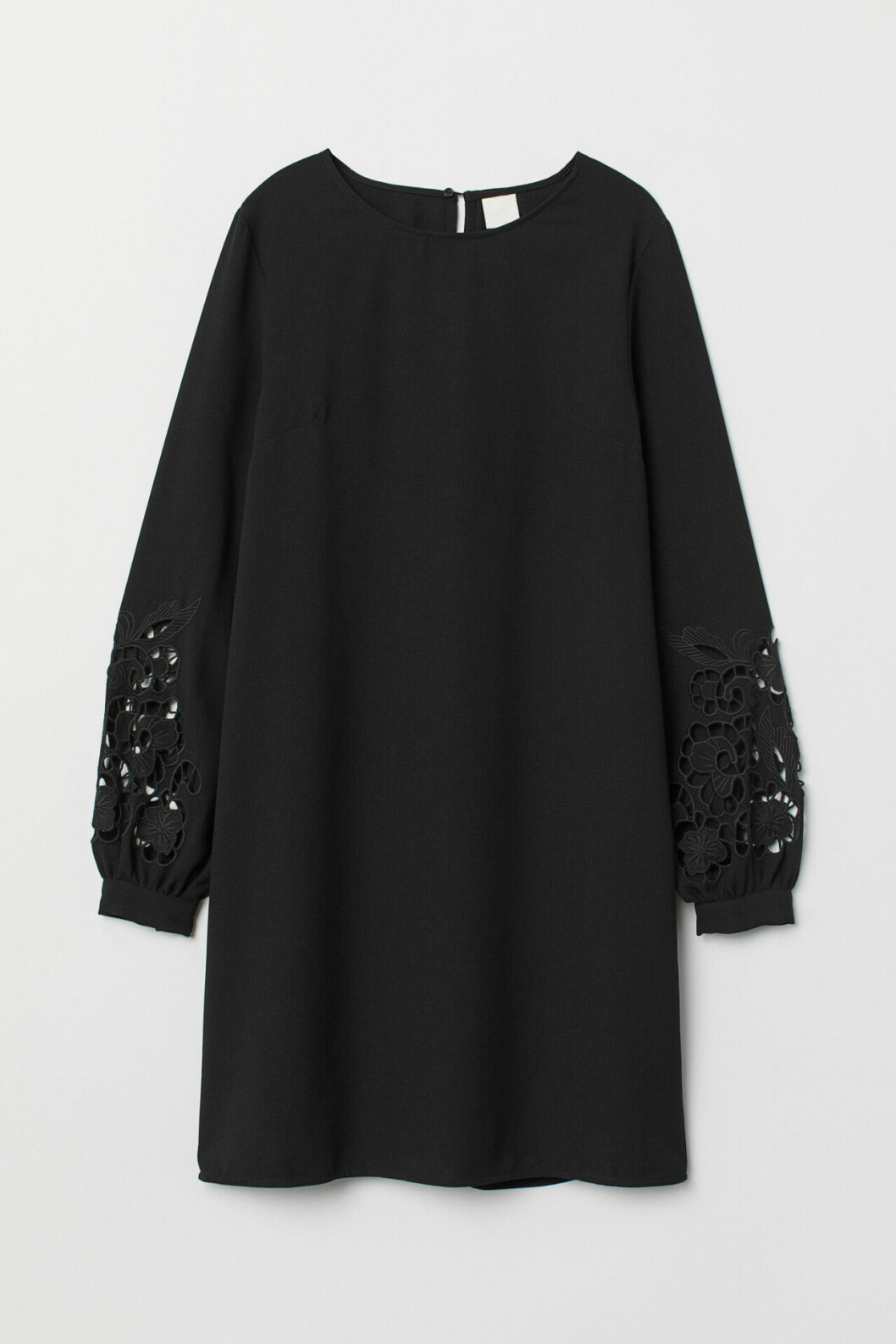 Svart klänning med lång ärm