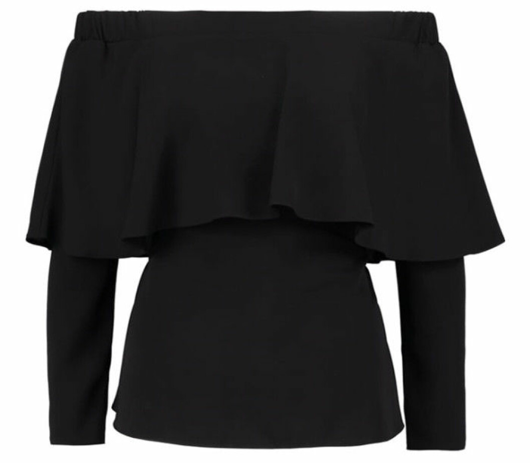 svart off shoulder topp
