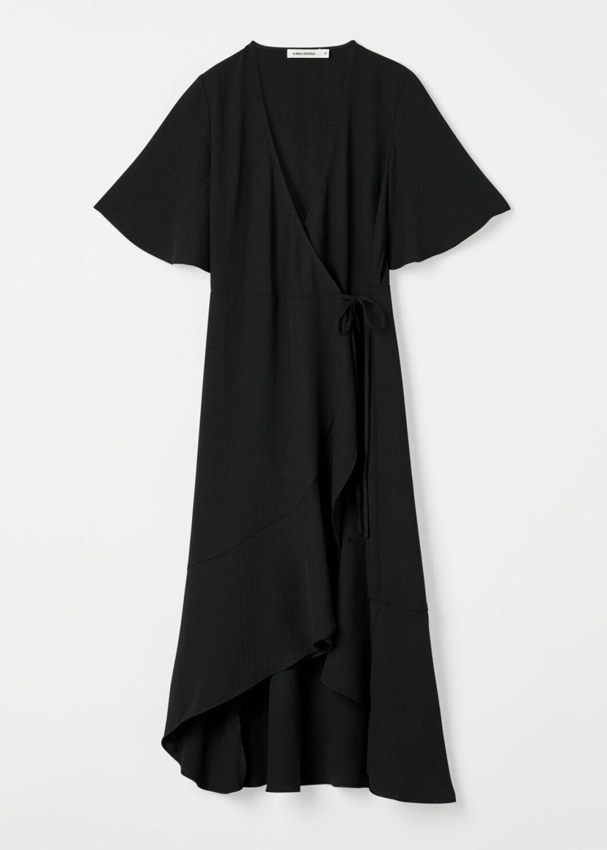 Svart omlottklänning för dam till 2020