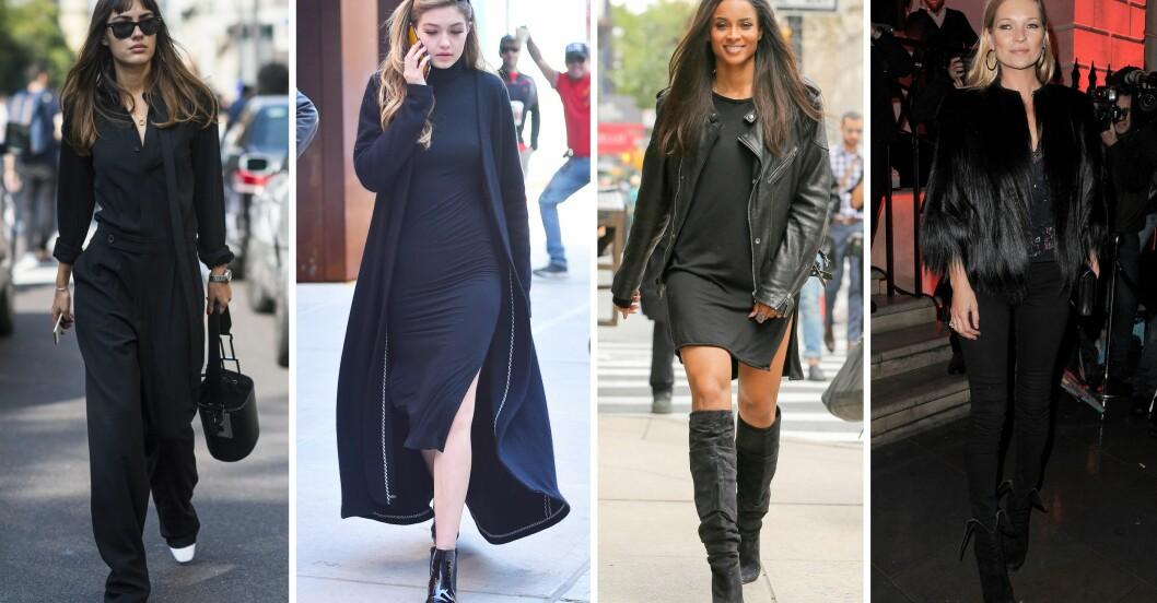 svart outfit
