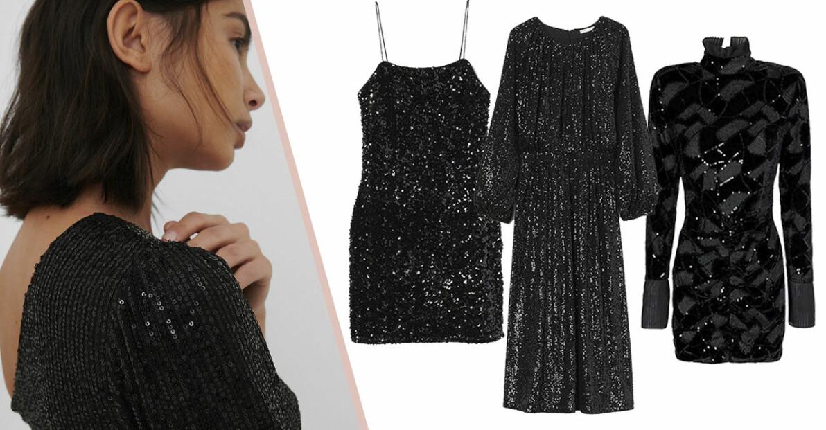 svart paljettklänning 2020
