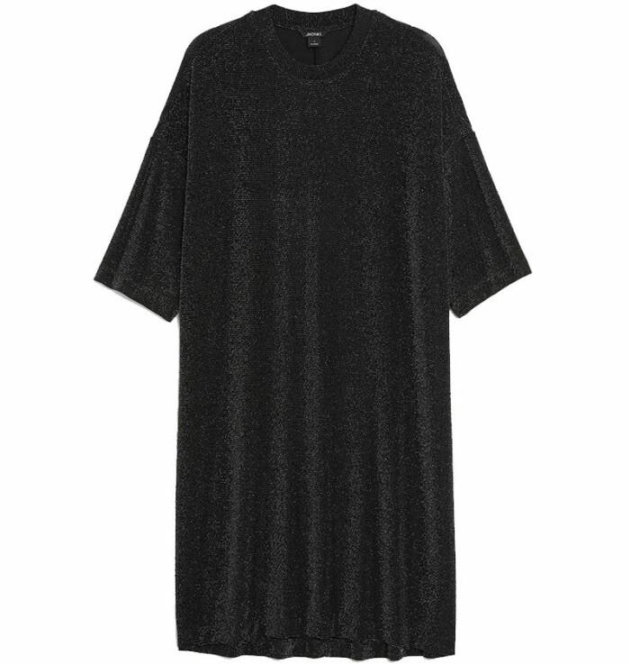svart paljettklänning monki