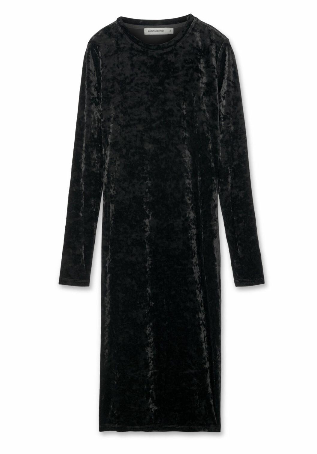svart sammetsklänning