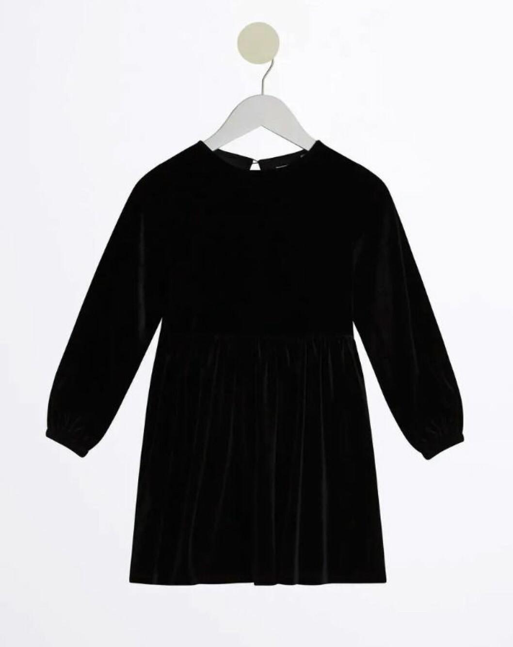 Gina tricot mini – svart sammetsklänning barn