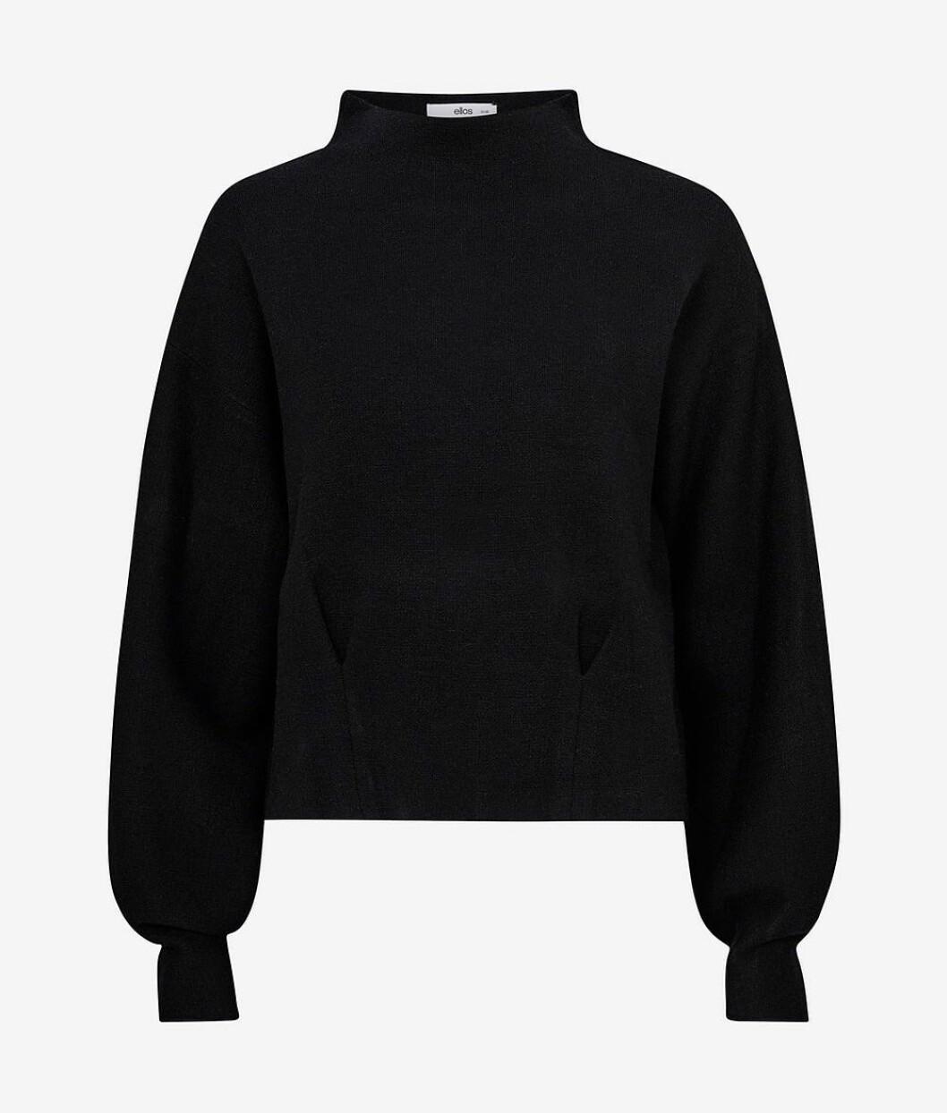 Svart stickad tröja från Ellos