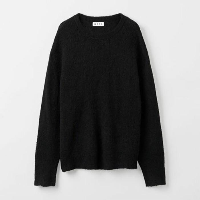 svart stickad tröja till dam från wera
