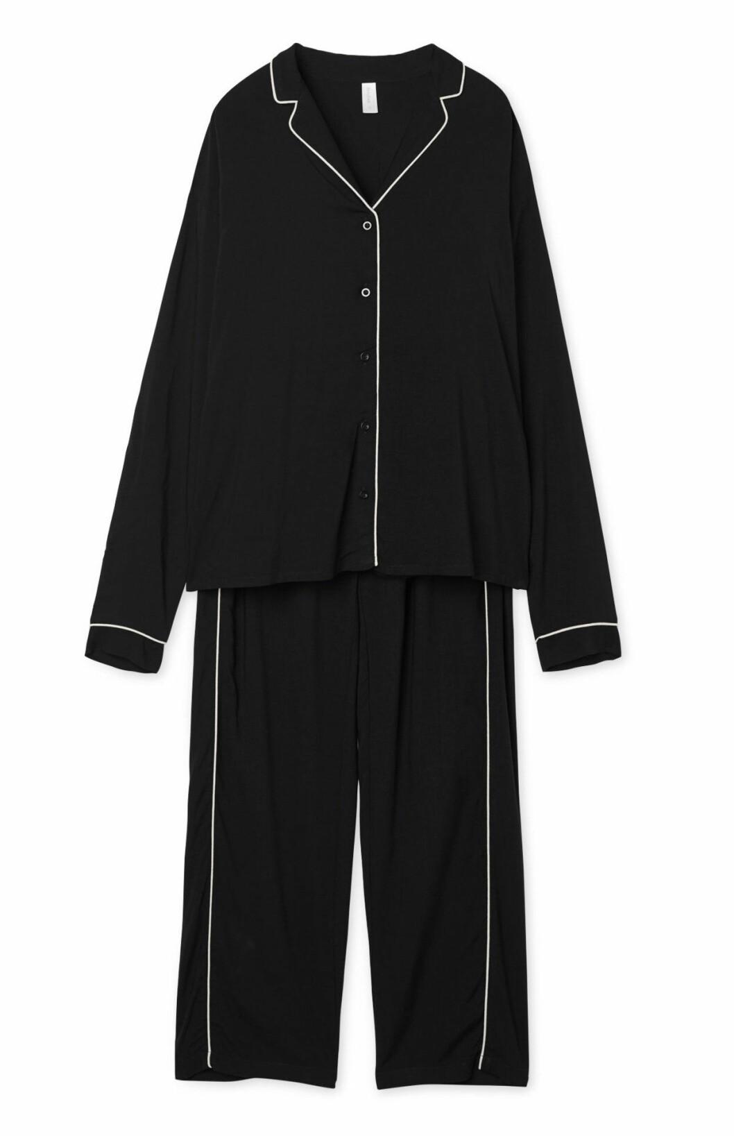 Svart pyjamas för dam