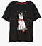 Svart t-shirt med kattmotiv