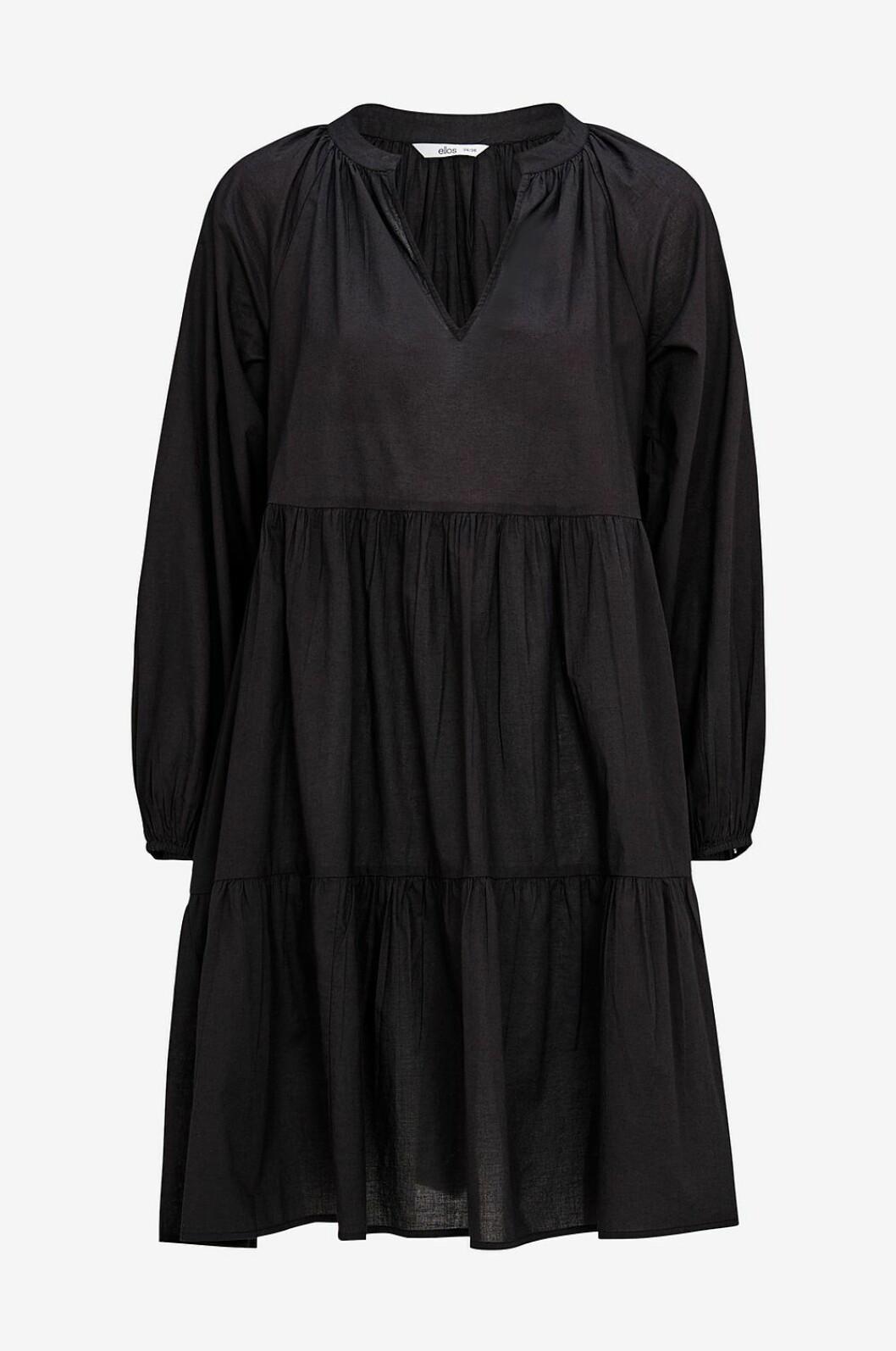 Svart volangklänning för dam till 2020