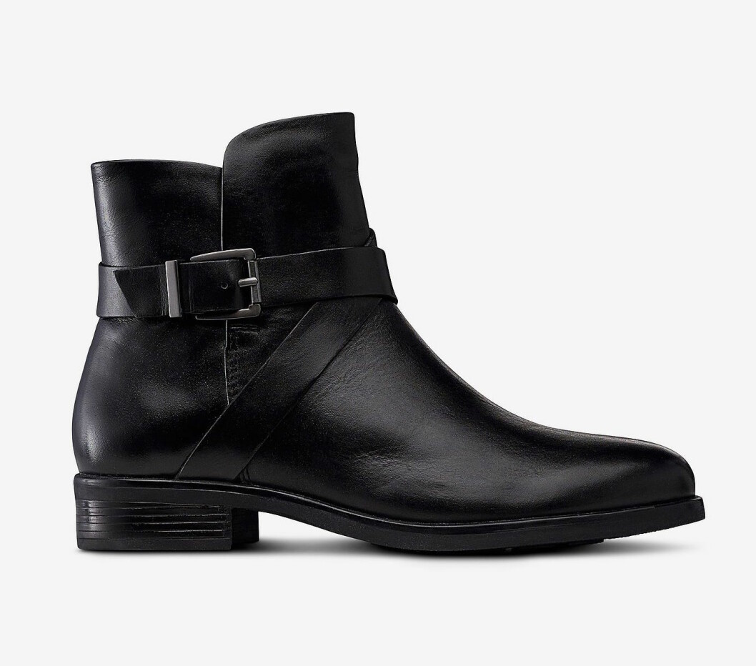 Svarta boots med låg klack för dam till hösten 2019