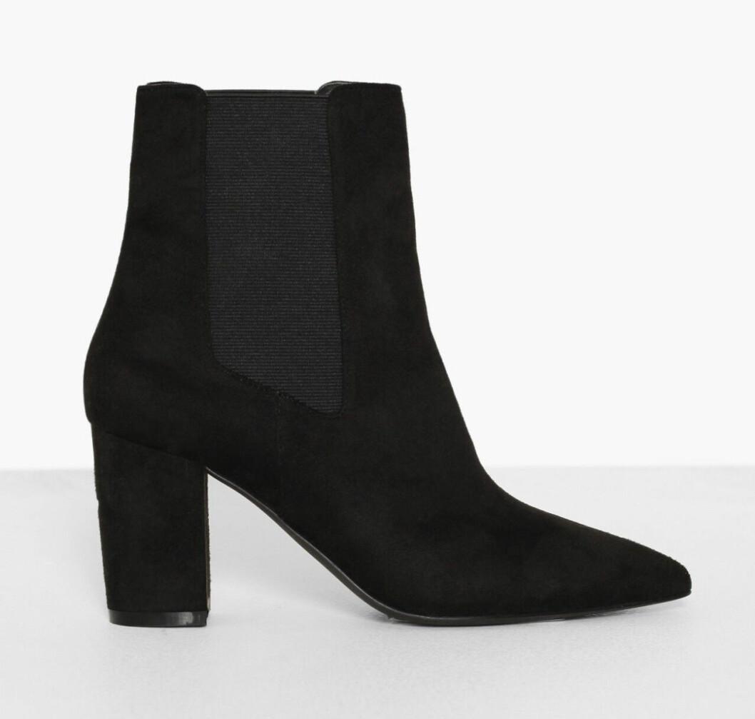Svarta boots i mocka för dam till hösten 2019