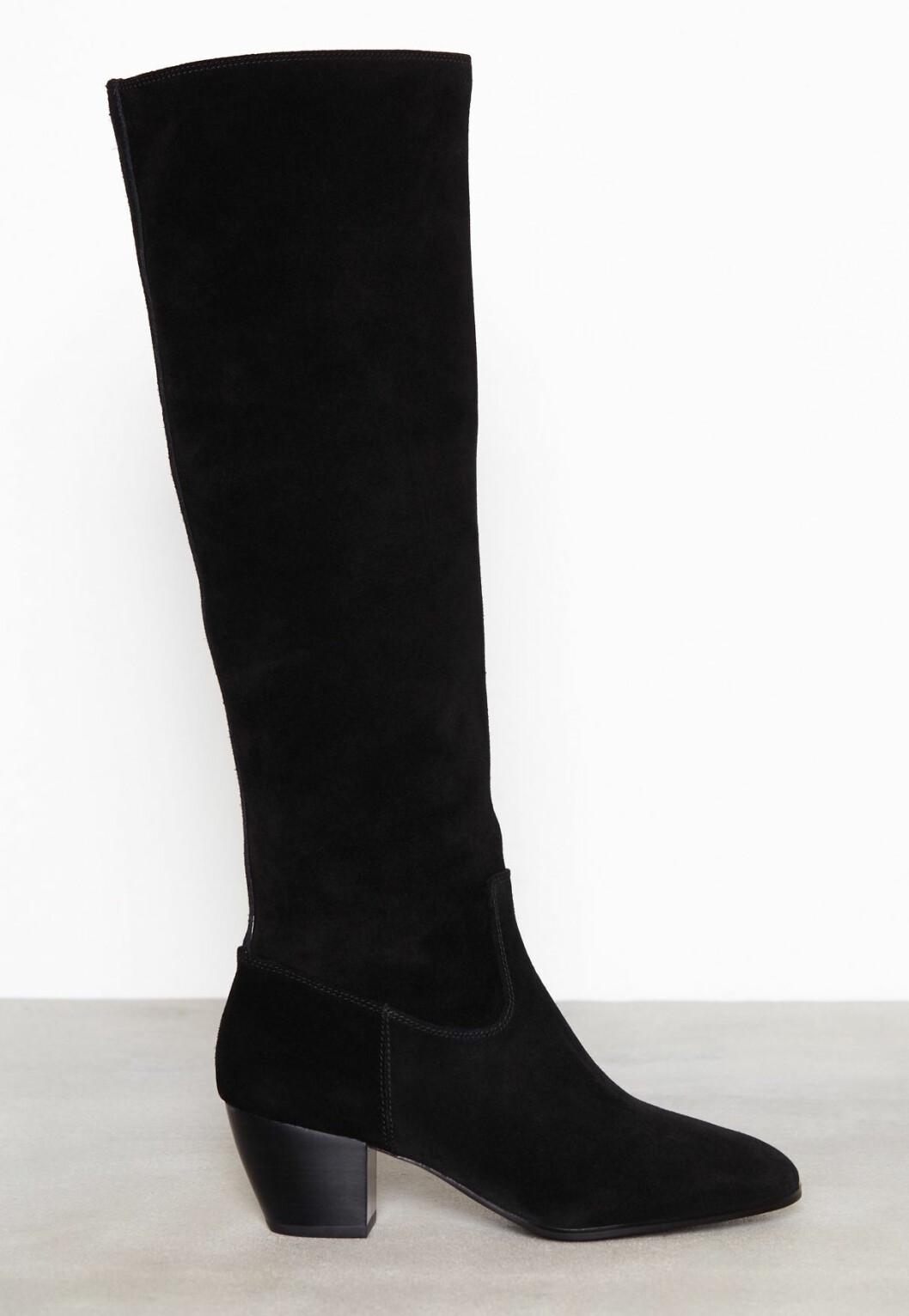 Svarta knähöga boots