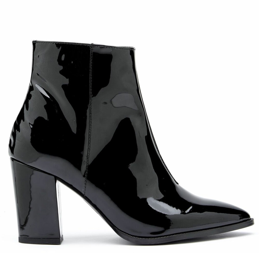 Svarta boots i lack för dam till hösten 2019
