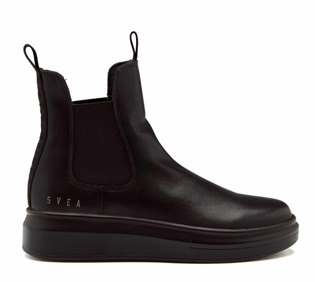 Svarta boots med grov sula för dam till hösten 2019