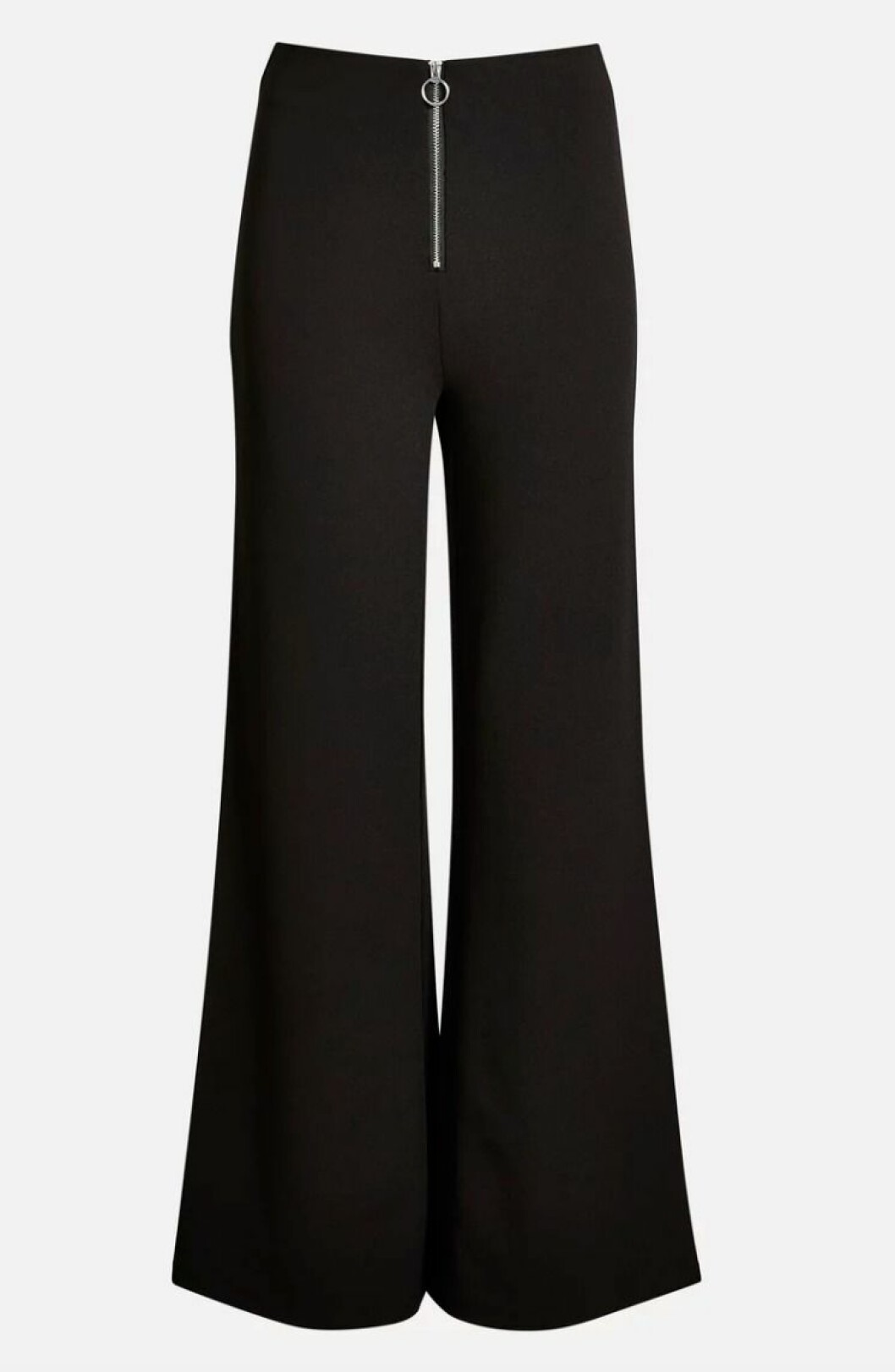 Svarta byxor med dragkedja