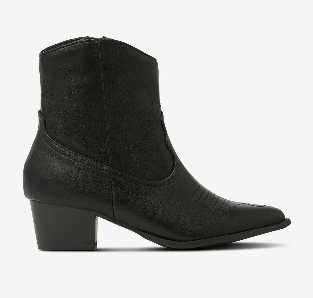 Svarta boots i cowboy-modell för dam till hösten 2019