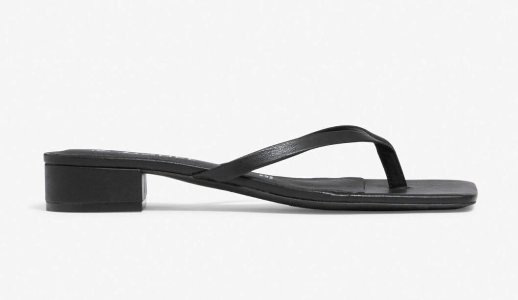 Svarta flipflop-sandaler för dam till 2020