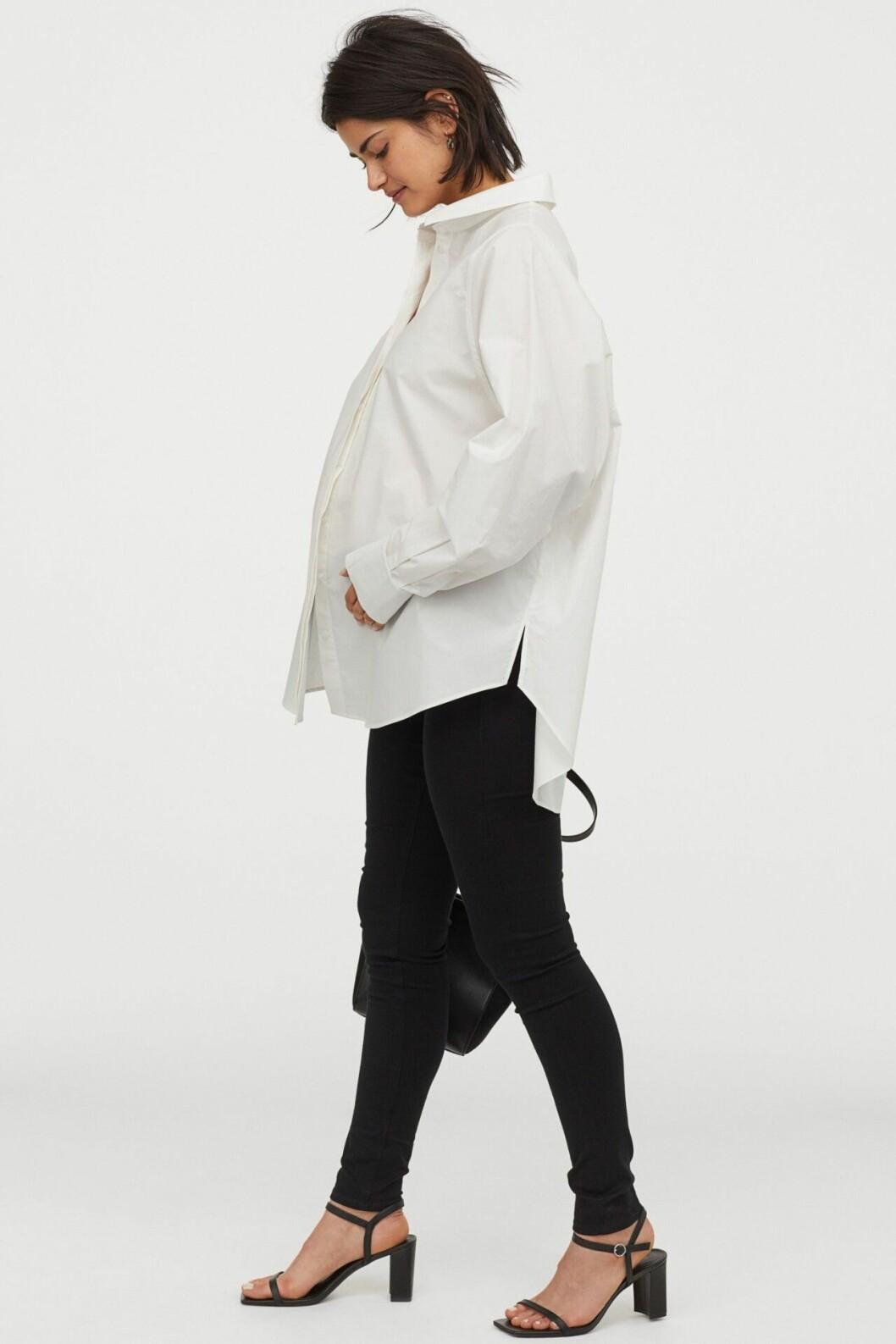 Svarta gravidbyxor i mjukt material från H&M