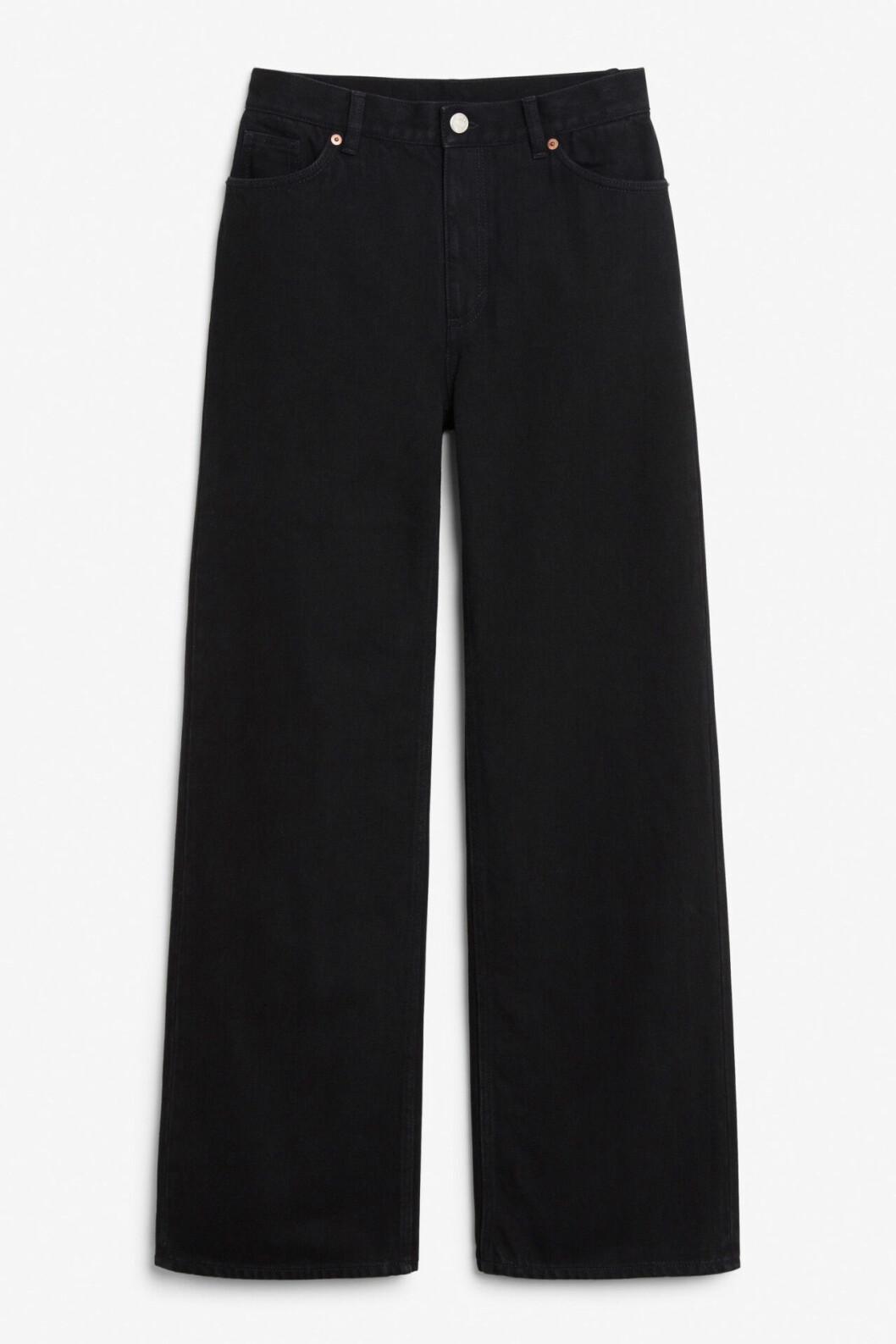 Svarta jeans med vida ben för dam till våren 2020