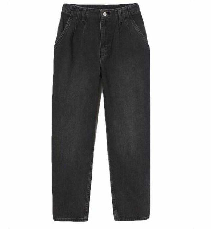 Ankellånga jeans med extra hög midja och lös passform från H&M.