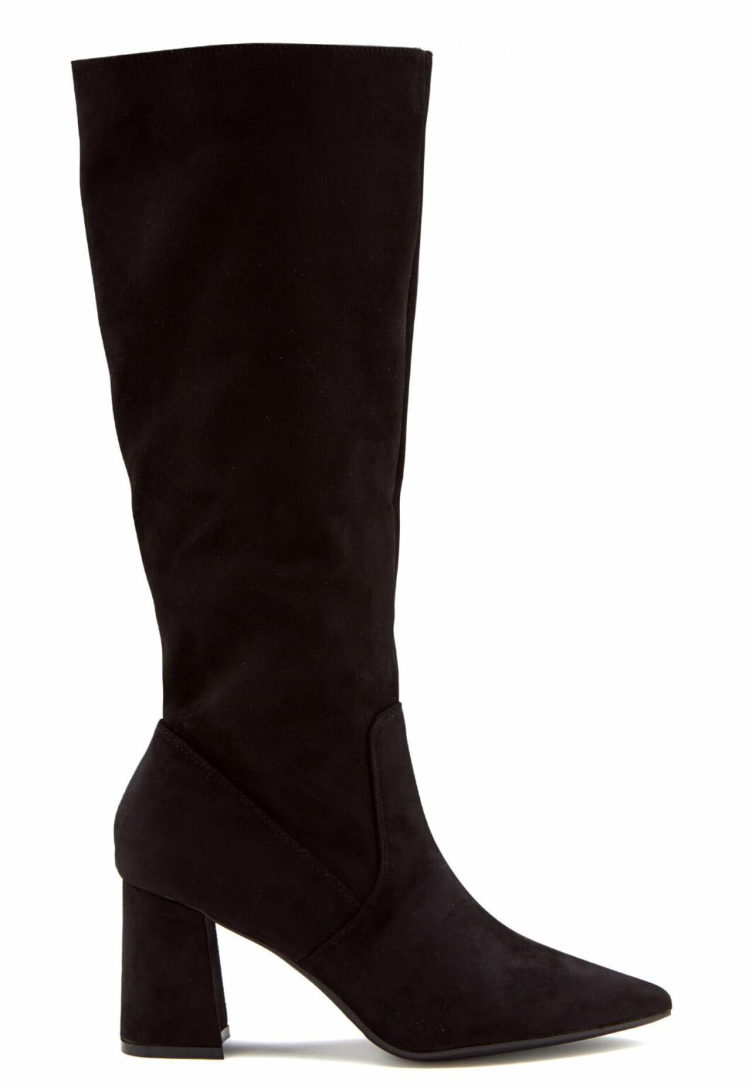 Svarta knähöga stövlar för dam som är billiga