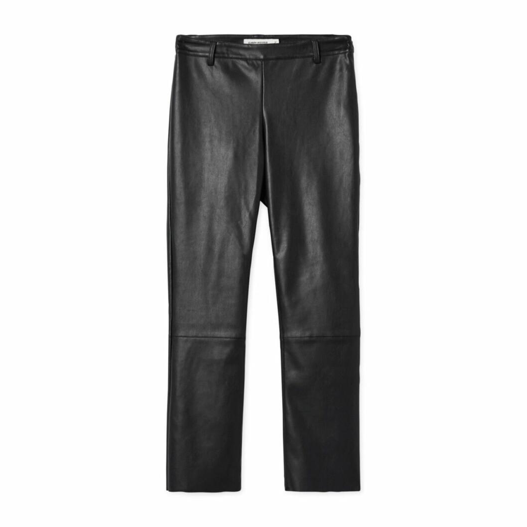 Svarta leggings i konstläder skinn dam höstmode 2019