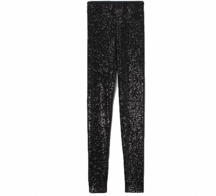 Svarta leggings med paljetter från H&M