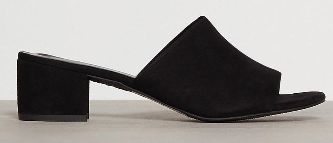 svarta billiga mules