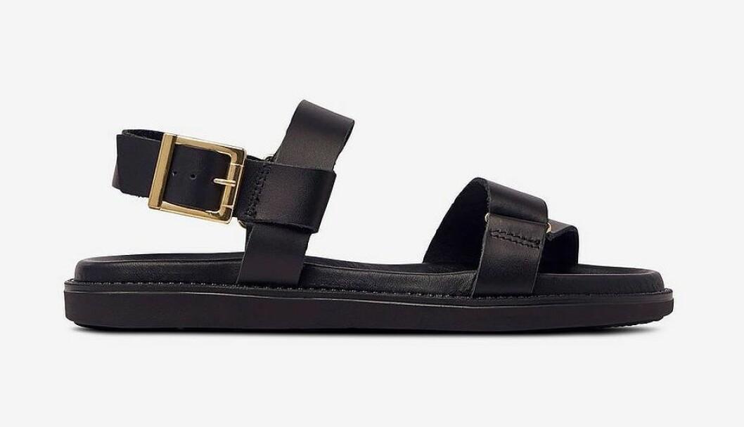Svarta chunky sandaler för dam till 2020