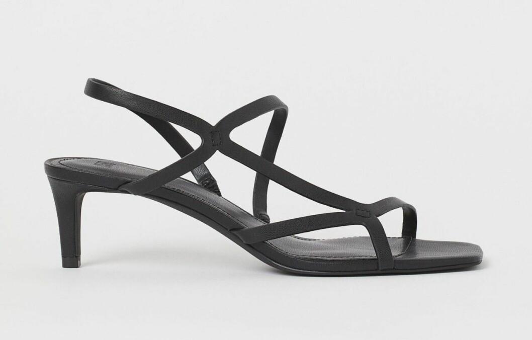 Svarta sandaletter med remmar för dam till 2020