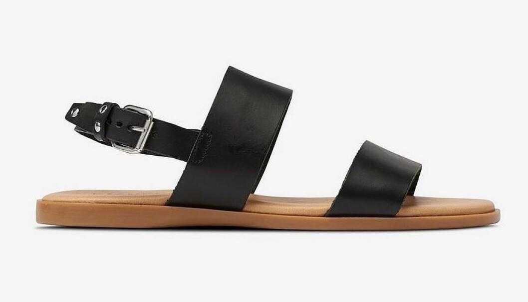 Svarta sandaler för dam till 2019