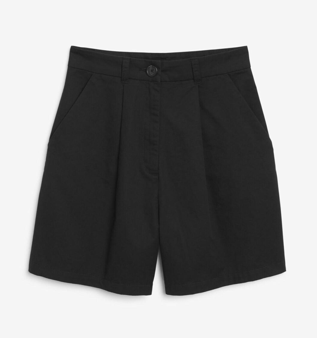 Svarta shorts med hög midja för dam till 2020