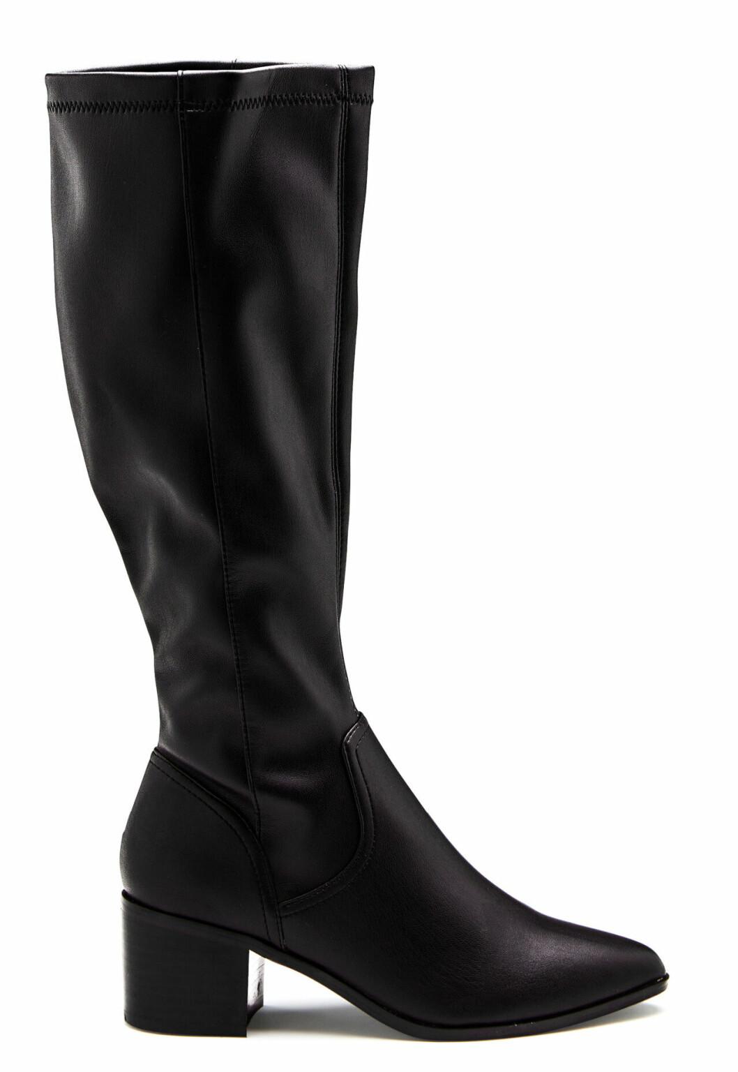Svarta knähöga stövlar för dam