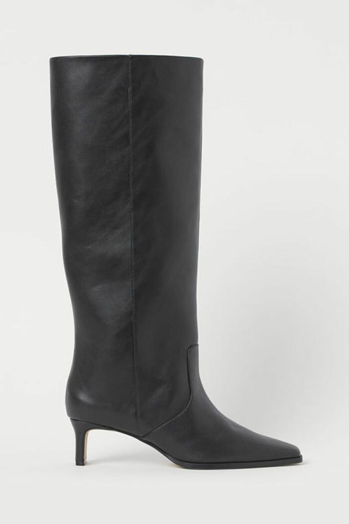 Svarta stövlar med brett skaft, H&M