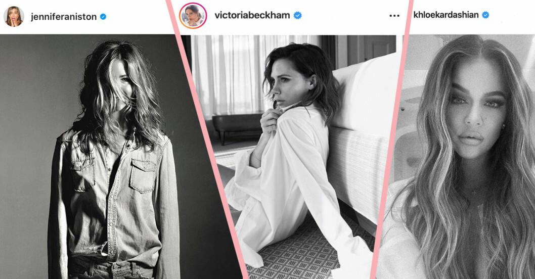 Jennifer aniston, viktoria Beckham och khloé Kardashian