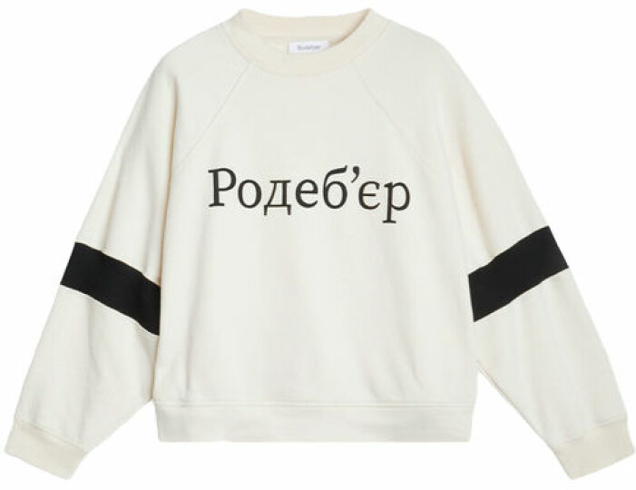 Sweatshirt med tryck från Rodebjer.
