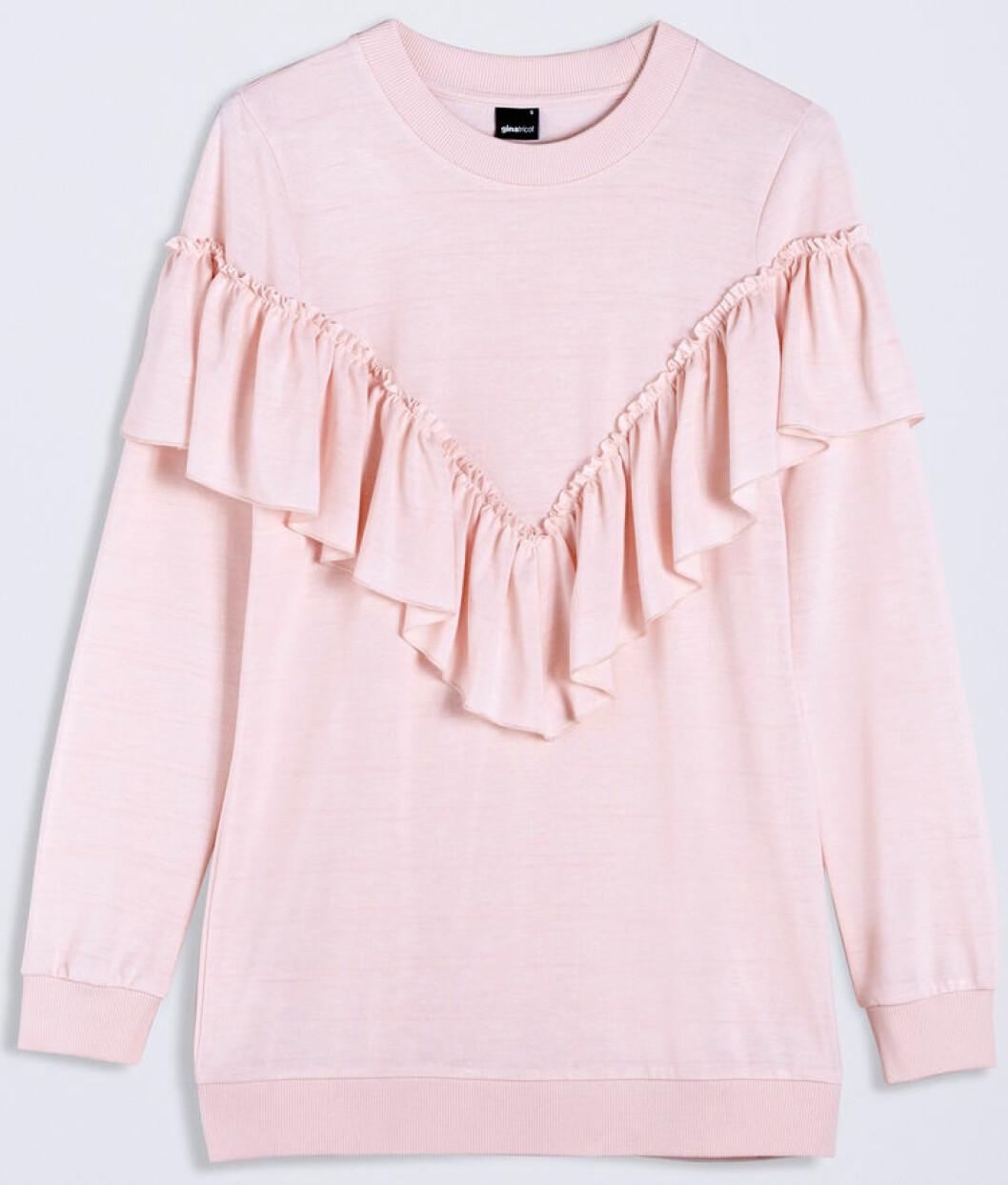 sweatshirt volang rosa