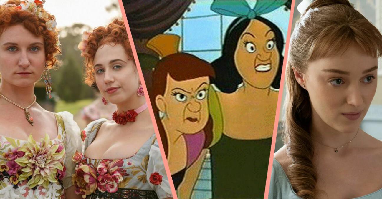 Systrarna Featherington och Daphne i Familjen Bridgerton samt askungens styvsystrar.