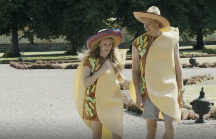 tacoparet i gift vid första ögonkastet utklädda till tacos