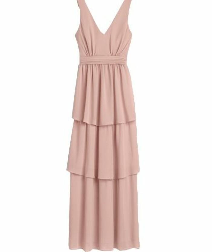 Dusty pink brudtärna klänning