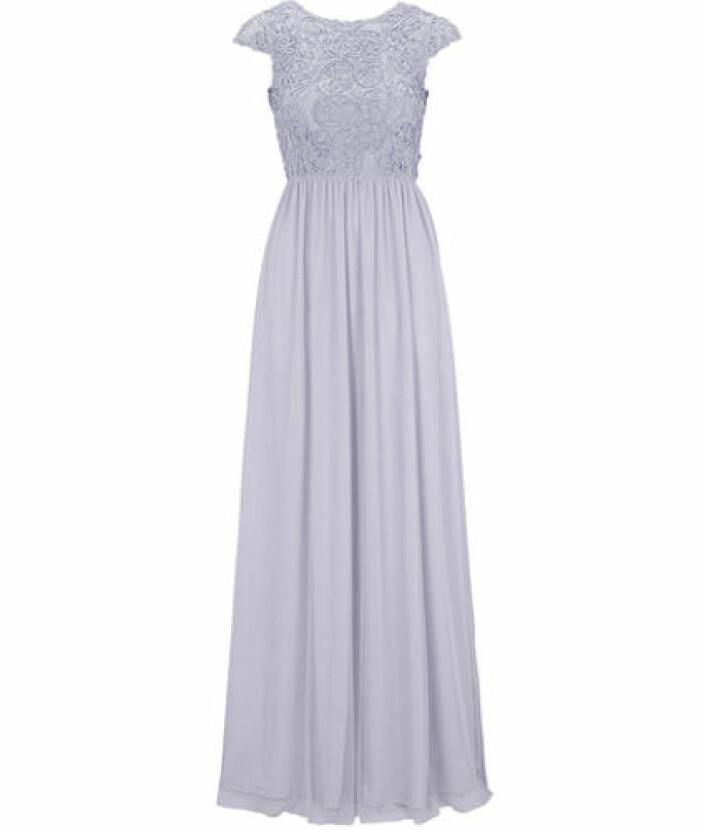 Dusty blue brudtärna klänning