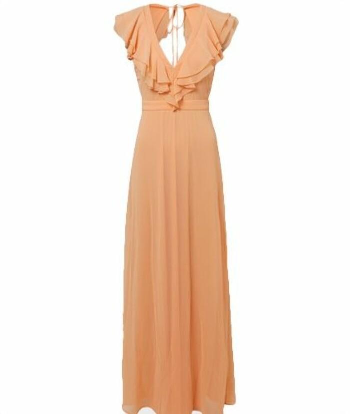 Orange långklänning till brudtärna
