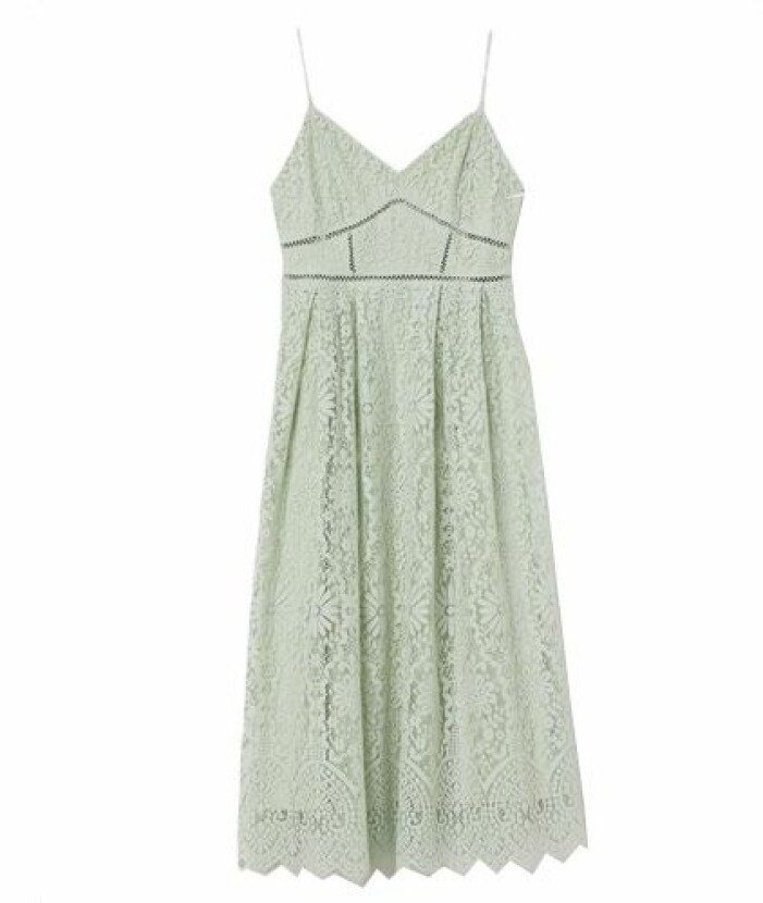 Grön spetsklänning till brudtärna