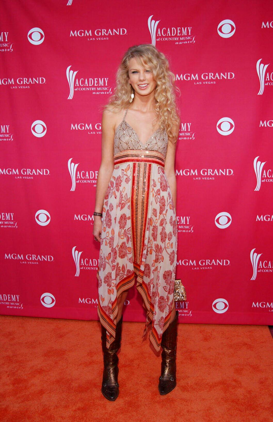 En bild på sångerskan Taylor Swift, 2006.