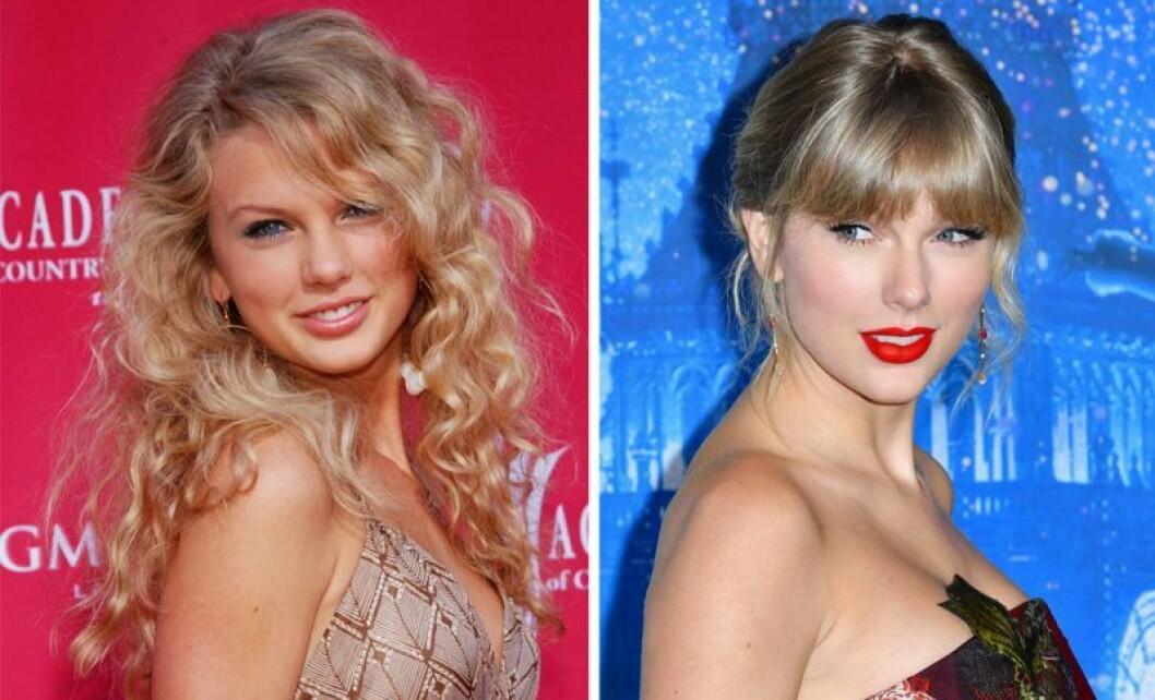 Taylor swift då och nu