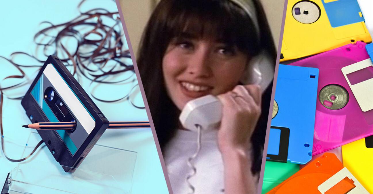 Intrasslat kasettband, Brenda i telefon och disketter