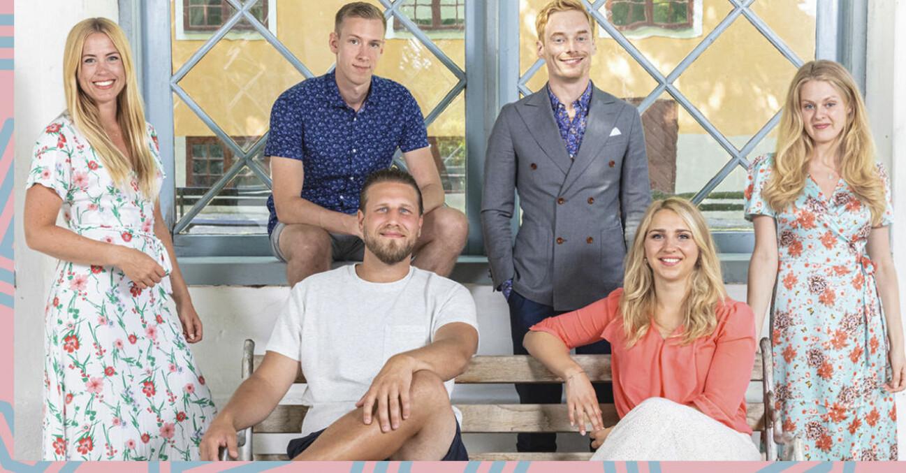 Susanna, Anton, Johan, Elinor, Sofia och Lars från gift vid första ögonkastet 2021